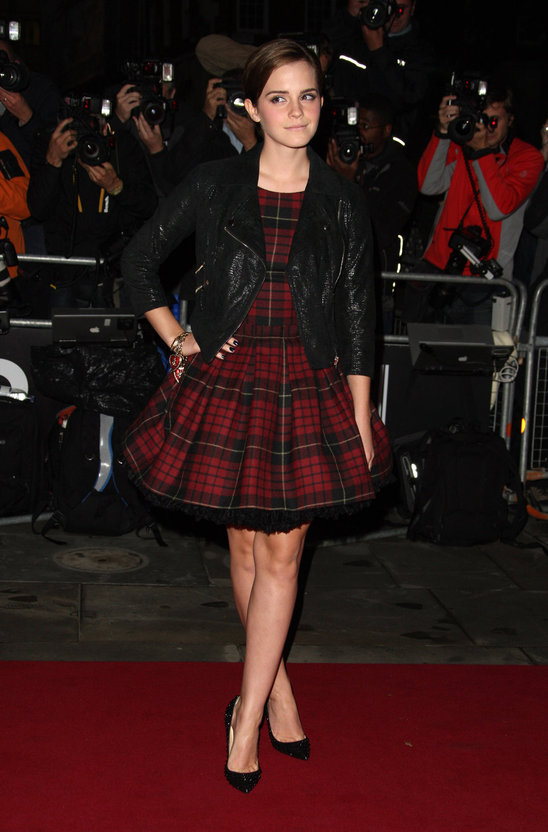 Emma Watson's punk-chic tartanklänning from McQ caught many people's eyes, including ours