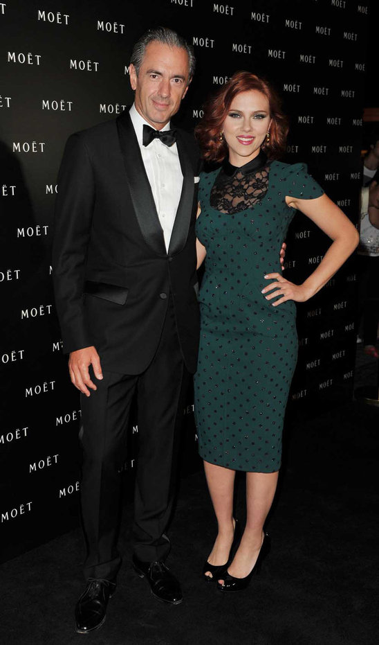 With Scarlett Johansson's figure and fiery red hair make this Marc Jacobs dress is perfect!